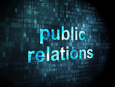 Marketing concept: Public Relations on digital background — Stock Photo