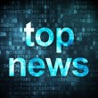 News concept: Top News on digital background — Stock Photo
