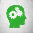 Education concept: Head With Gears on wall background — Stock Photo #38965855