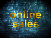 Advertising concept: Online Sales on digital background — Stock Photo