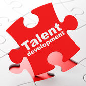 Education concept: Talent Development on puzzle background — Foto Stock