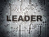 Finance concept: circuit board with Leader — Stock Photo