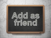 Social network concept: Add as Friend on chalkboard background — Stock Photo
