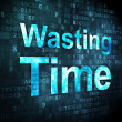 Stock Photo: Timeline concept: Wasting Time on digital background