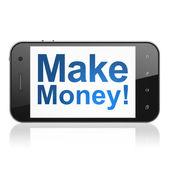 Finance concept: Make Money! on smartphone — Stock Photo