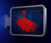 Security concept: Cctv Camera on billboard background — Stockfoto