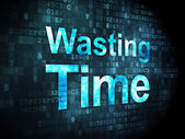 Timeline concept: Wasting Time on digital background — Stock Photo