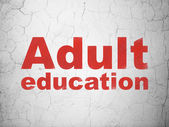 Education concept: Adult Education on wall background — Stock Photo