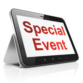 Business concept: Special Event on tablet pc computer — Stock Photo