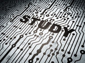 Education concept: circuit board with Study — Stock Photo