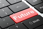 Time concept: Future on computer keyboard background — Foto Stock