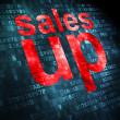 Marketing concept: Sales Up on digital background — Stock Photo