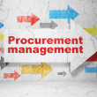 Stock Photo: Business concept: arrow with Procurement Management on grunge wall background