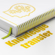Постер, плакат: Education concept: book Head With Gears Knowledge Transfer on white background