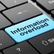 Information concept: Information Overload on computer keyboard background — Stock Photo #39060871