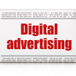 Advertising concept: newspaper headline Digital Advertising — Stock Photo #39066927