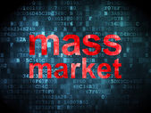 Marketing concept: Mass Market on digital background — Photo