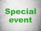 Business concept: Special Event on wall background — Stock Photo
