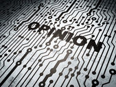 Advertising concept: circuit board with Opinion — Stock Photo