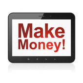 Business concept: Make Money! on tablet pc computer — Stock Photo