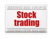 Business concept: newspaper headline Stock Trading — Stockfoto