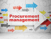 Business concept: arrow with Procurement Management on grunge wall background — Stock Photo