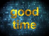 Timeline concept: Good Time on digital background — Foto Stock