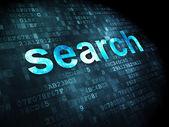 SEO web development concept: Search on digital background — Stock Photo