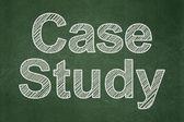 Education concept: Case Study on chalkboard background — Stock Photo