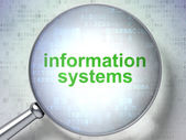 Information concept: Information Systems with optical glass — Stock Photo