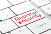Security concept: National Security on computer keyboard background — Stock Photo