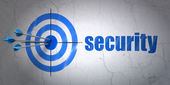 Security concept: target and Security on wall background — Stock Photo