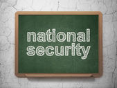 Security concept: National Security on chalkboard background — Stock Photo
