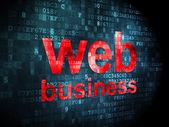 SEO web development concept: Web Business on digital background — Stock Photo