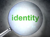 Security concept: Identity with optical glass — Stock Photo