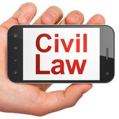 Law concept: Civil Law on smartphone — Stock Photo