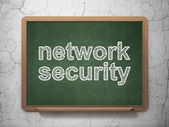 Privacy concept: Network Security on chalkboard background — Stockfoto