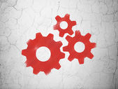 Web development concept: Gears on wall background — Stock Photo