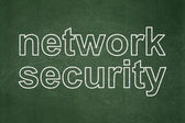 Privacy concept: Network Security on chalkboard background — Stock Photo