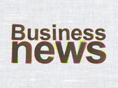 News concept: Business News on fabric texture background — Stock Photo