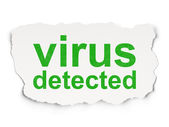 Safety concept: Virus Detected on Paper background — Stock Photo