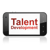 Education concept: Talent Development on smartphone — Stockfoto