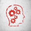 Education concept: Head With Gears on wall background — Stock Photo #39091555