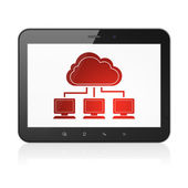 Cloud computing concept: Cloud Network on tablet pc computer — Stock Photo