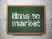 Timeline concept: Time to Market on chalkboard background — Stock Photo