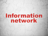 Information concept: Information Network on wall background — Stock Photo