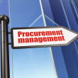 Stock Photo: Finance concept: sign Procurement Management on Building background