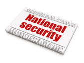 Protection concept: newspaper headline National Security — Stock Photo