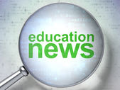 News concept: Education News with optical glass — Foto Stock