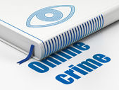 Security concept: book Eye, Online Crime on white background — Stockfoto